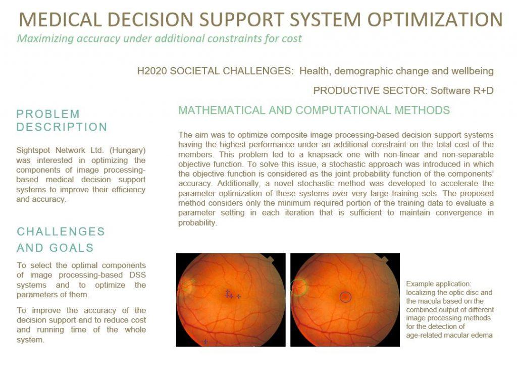 Optimalizáló módszerek kidolgozása klinikai döntéstámogatáshoz és az implementációk hatékonyságának növeléséhez